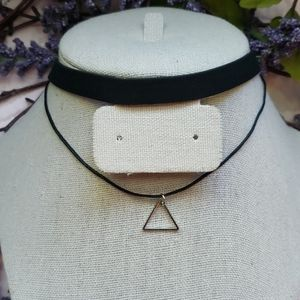 Jewelry - 2/$20NEW black velvet and silver charm choker